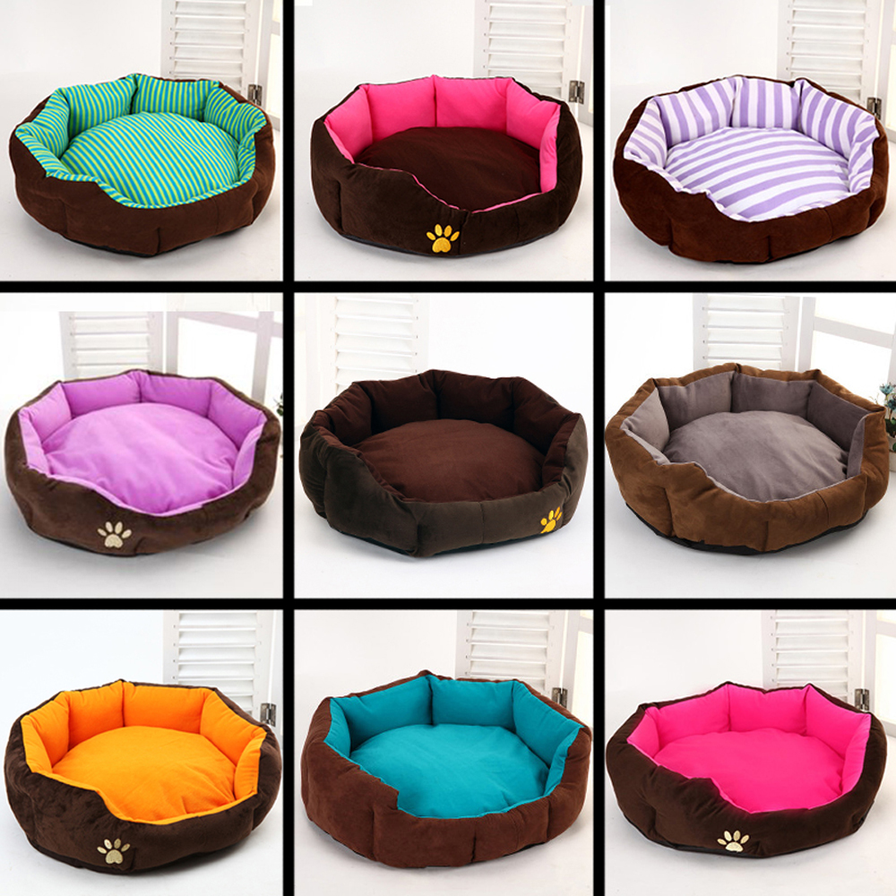 Colorful Paw Print Hexagon Kennel pet beds