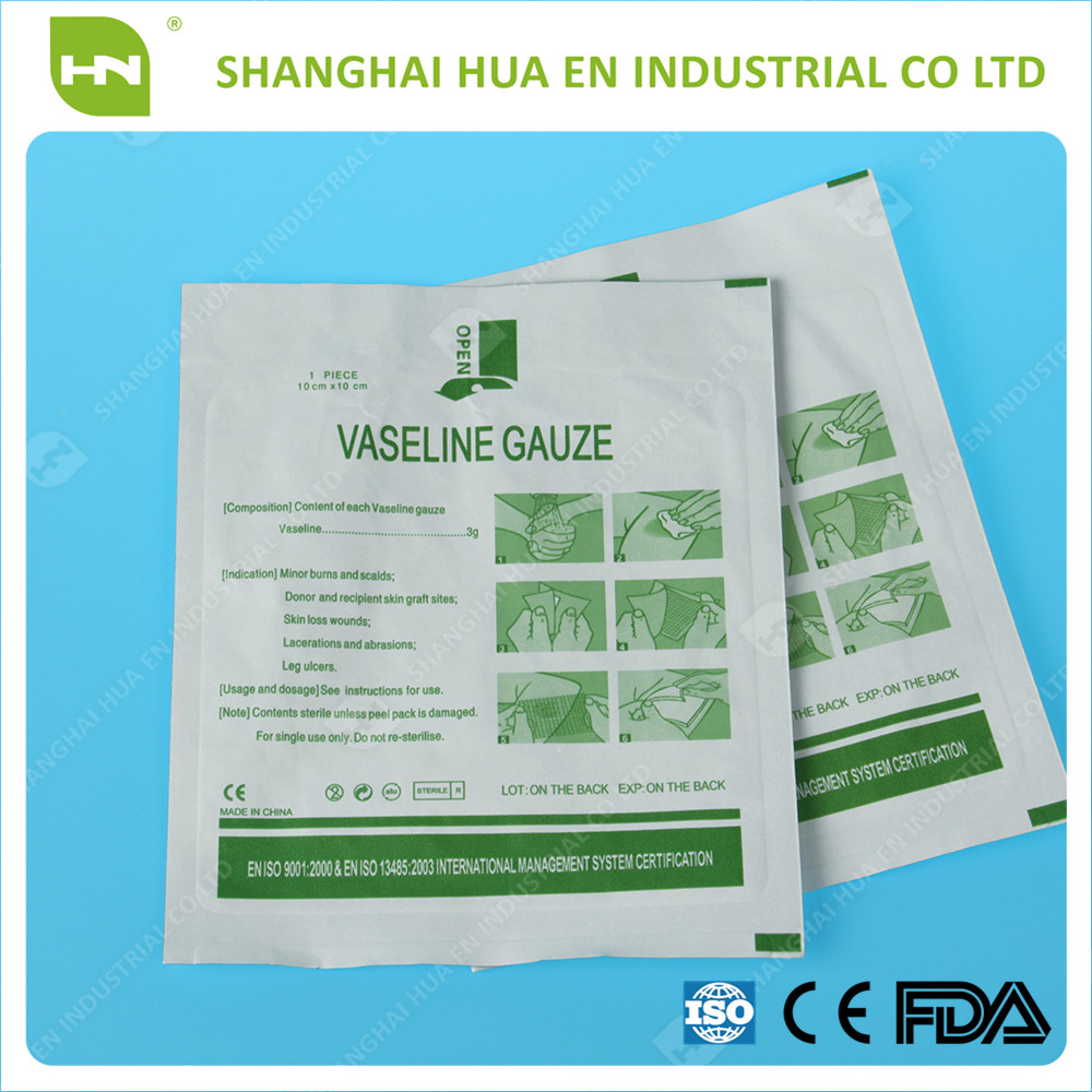 surgical paraffine gauze individually package made in China