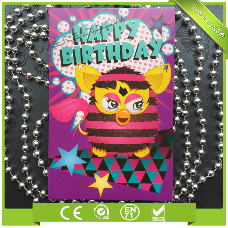China Manufacturer Wholesale Latest High Quality Paper Quilling Birthday Card