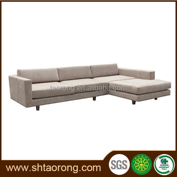 2015 New design high quality white fabric sofa set with headrest for sale
