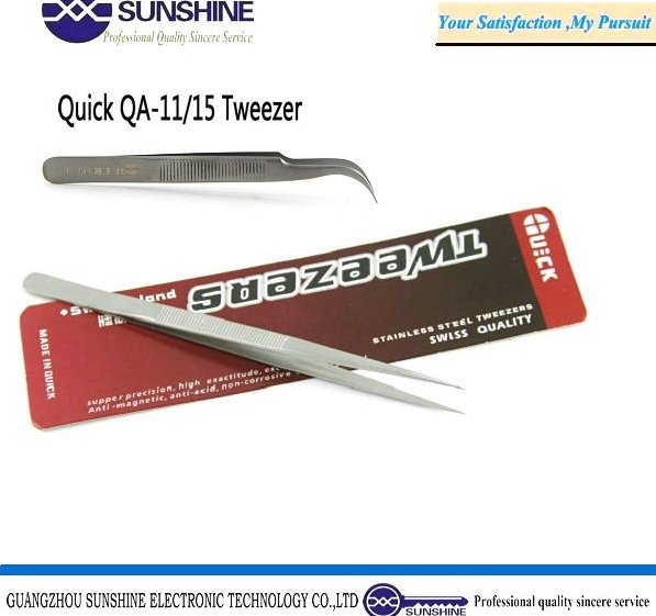 China manufacturer Quick tweezer for mobile laptop computer repair tools eyelash tweezers QA-11