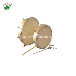 2018 custom 8 10 inch beat instrument Natural Wood Skin Head Tunable Hand Drum for children