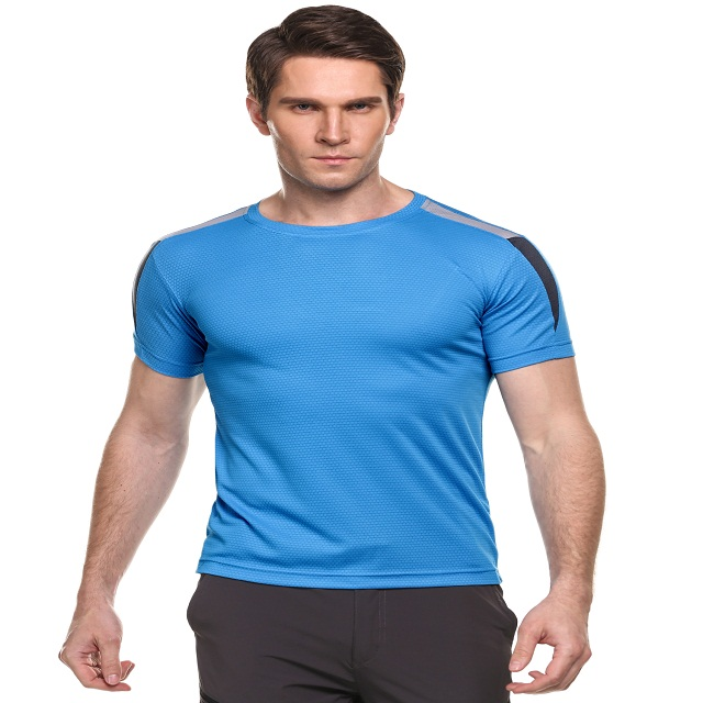 Men Short Sleeve Wicking Breathable Quick Dry T-Shirt Sportswear