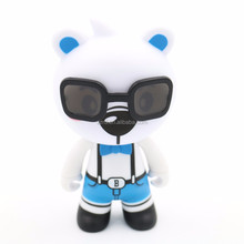 custom made cool bear vinyl figure/custom design PVC bear vinyl toys/make custom vinyl toys manufactory