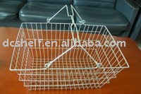 Dachang Factory High quality Steel Shopping Basket Powder Coated or Chrome