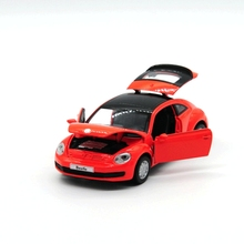 Gift 1:29 creative Volkswagen Beetle car Super Cool alloy model acousto-optic pull back collection children boy toy
