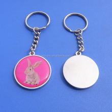 Hot sale animal metal keychains/zoo picture type key holders