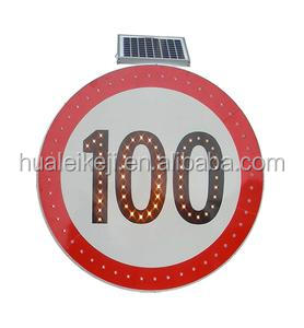 Road Safety Products 3M Reflective Film Solar Powered Blinking Warning LED Traffic Sign