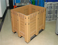 nestable plastic pallet container