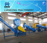Hot sale used pet bottle washing and recycling machinery