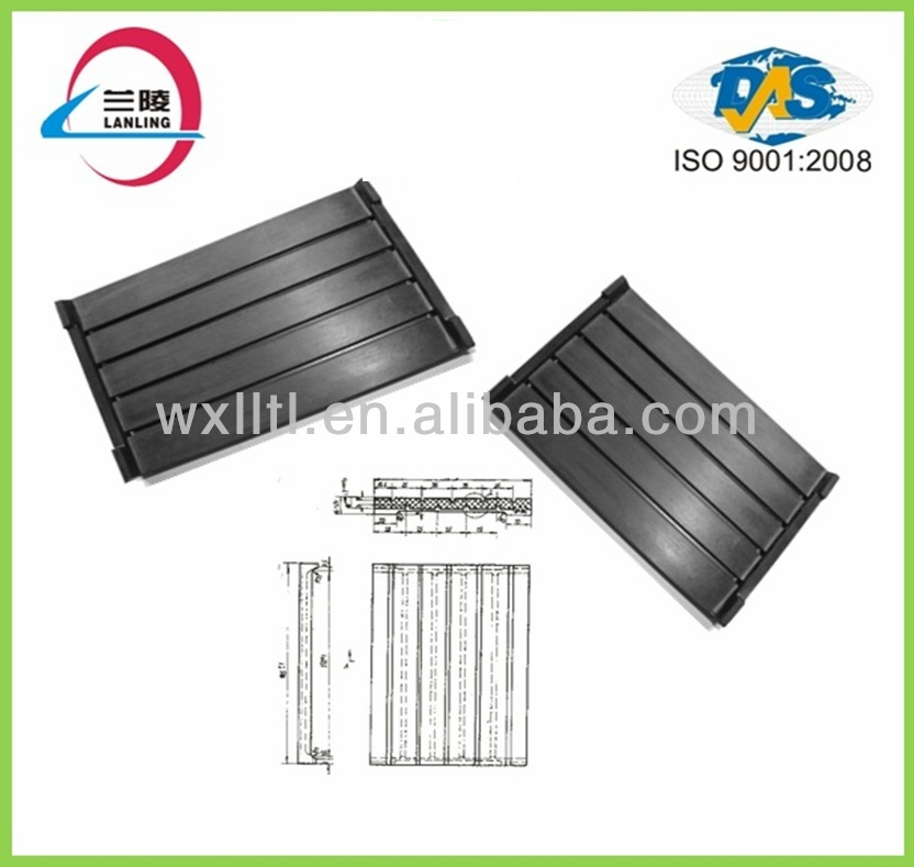 Railway absorbing vibration rubber pads