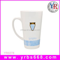 2014 christmas gift china supplier alibaba manufacturers porcelain color changing cheap plain white coffee mug