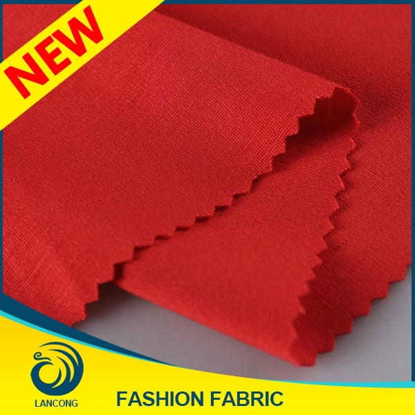 Attractive Red Knit Rayon Spandex Fabric for Taiwan