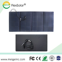 Wuhan Flextech semi-flexible foldable 12v 100w solar panel solar panels for golf cart