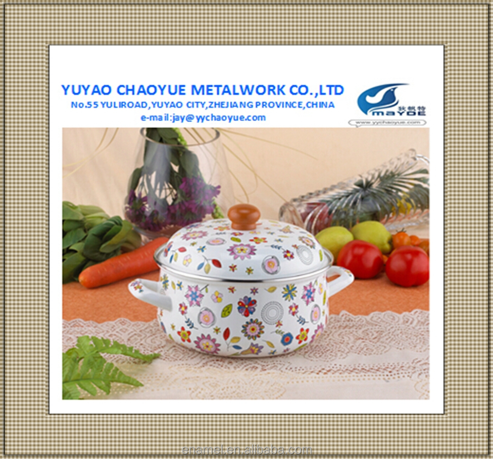 hot sale high quality enamel casserole set enamel stock pot