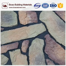 Heat and fire resistant artificial stone with irregular shape