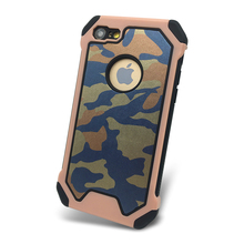 3 in 1 Camouflage Air Cushion Shock Proof Case for iPhone 8 , for iPhone 7 Shockproof Case Camo