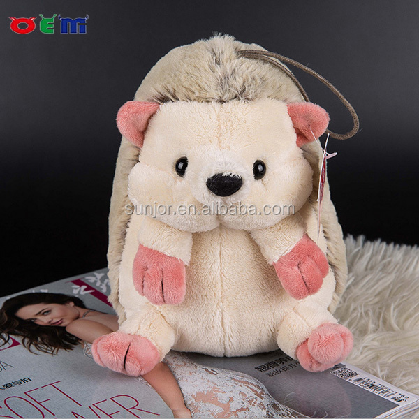 Custom stuffed animal soft toy baby foldable hedgehog plush toy
