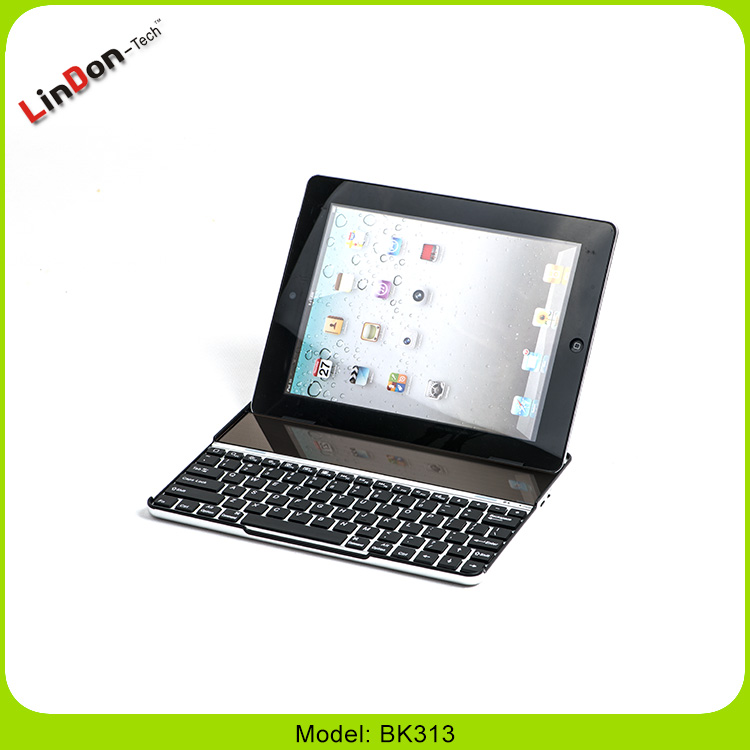 Solar Aluminum Case Wireless Bluetooth 3.0 Keyboard For iPad 2/3/4