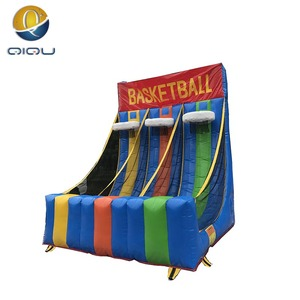 special interesting sport game pvc 0.55 strong inflatable basketball frame for game of competition kids and adults