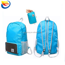 Stock Yiwu waterproof backpack travel lightweight polyester foldable backpack