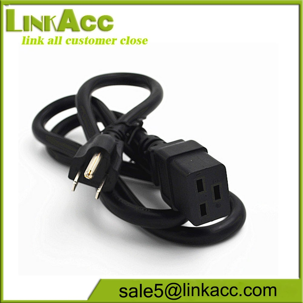 LKCL15 To C19UPS American power cord 5-15P C19 TO three socket