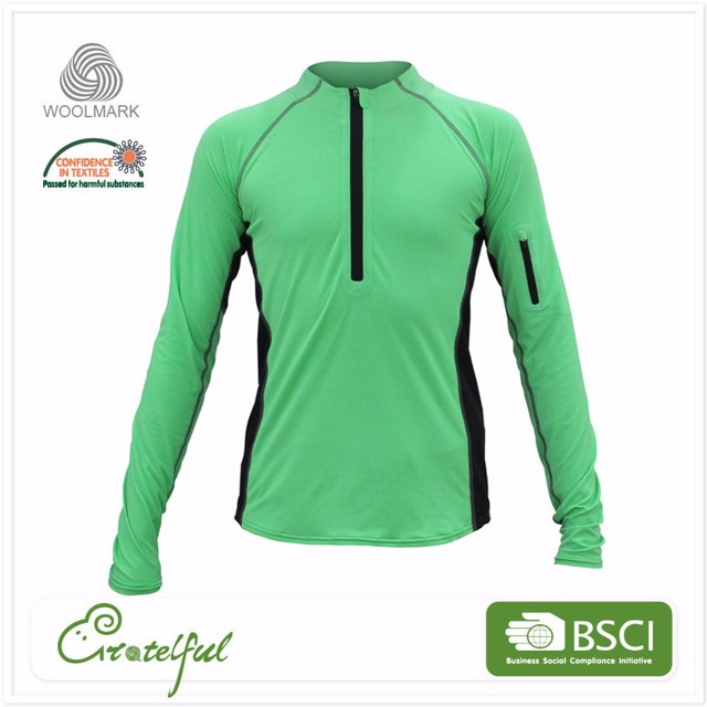 wholesale custom made tight sports sexy men quarter zip pullover sportswear shirt