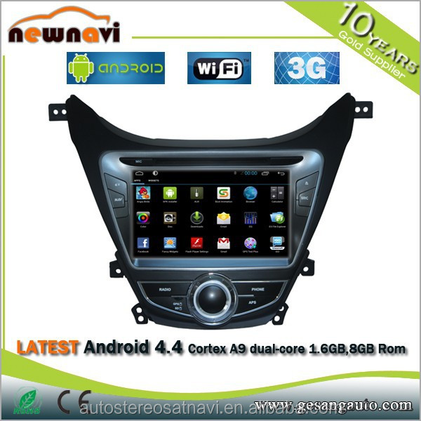 ANDROID 4.2.2 GPS TV BT Ipod Radio Steering Wheel Control Car DVD Player for HYUNDAI ELANTRA with GPS Navigation Radio DVR Map