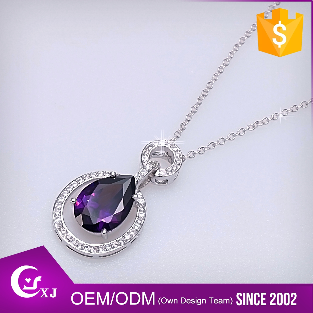Wholesale Women Jewelry Delicate Emerald Diamond Necklace Sets