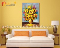 Abstract morden hanging flower pictures framed flower art paintings
