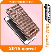 funny mobile phone case case with floating diamond color change back cover for iphone 5c