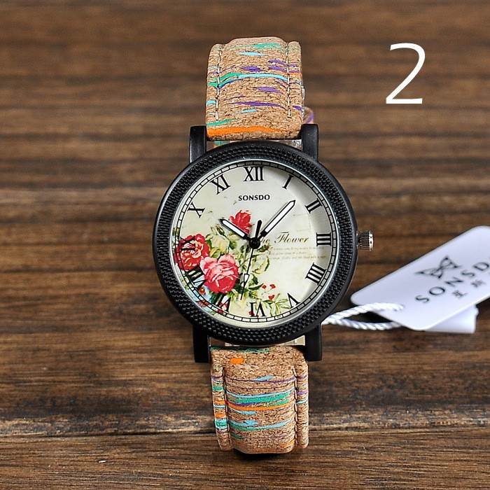 2015 Women's Fashion Designer Brand cheap Luxury leather Watch Women quartz kores watch