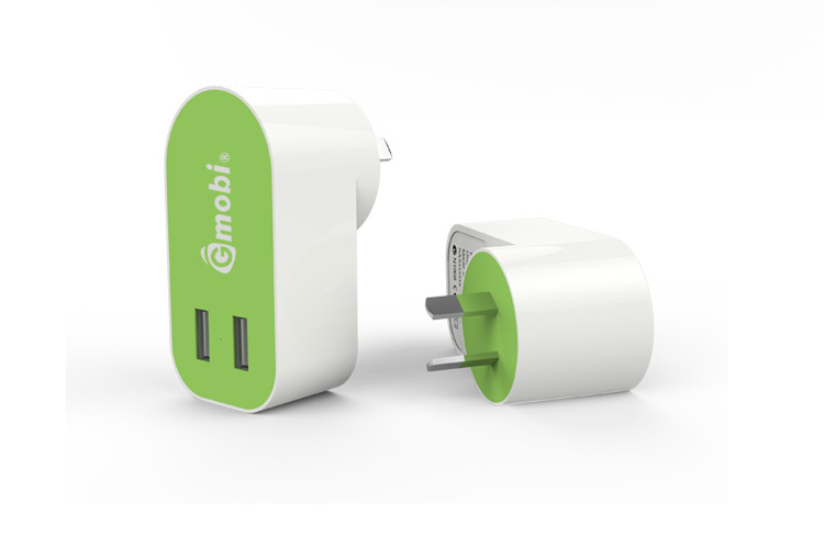 Customized Usb Wall Charger 5V/4.8A ( 2.4A+2.4A ) Full Charge 2 Devices All at once