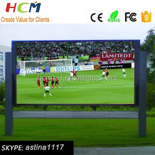 High quality products outdoor low price Advertising live video cricket match led display screens