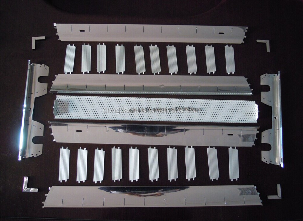 C.K.D. parts of China manufacture grid light T5/T8 Fluorescent ceiling grille light