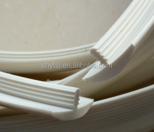Wholesale china factory pvc table desk edge trim t molding for Abs trimming kitchen cabinets