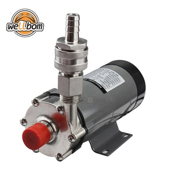 HomeBrew Pump MP-15R Food Grade 304 Stainless Steel Brewing 220V Magnetic Water Pump with Stainless Steel Quick Disconnects