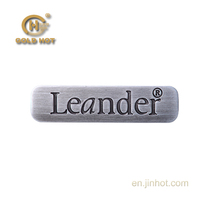 TH-010R specially for bags or decoration gray brushed gray finishing with character convex metal zinc alloy nameplate