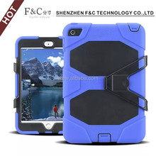 2016 Hot Sell Stand Silicone Waterproof Back Case Cover For ipad Mini4