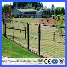 Galvanized PVC chain link fence yard guard fence gate(guangzhou factory)
