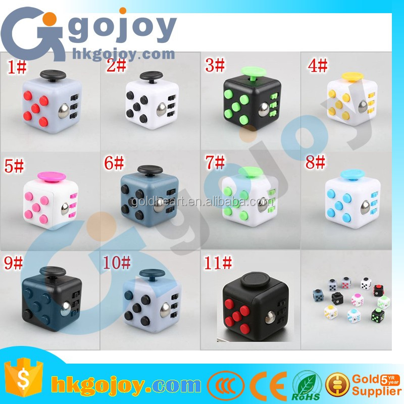 2017 new arrivals novelty squeezing toys ,best quality stress release magic fidget cube