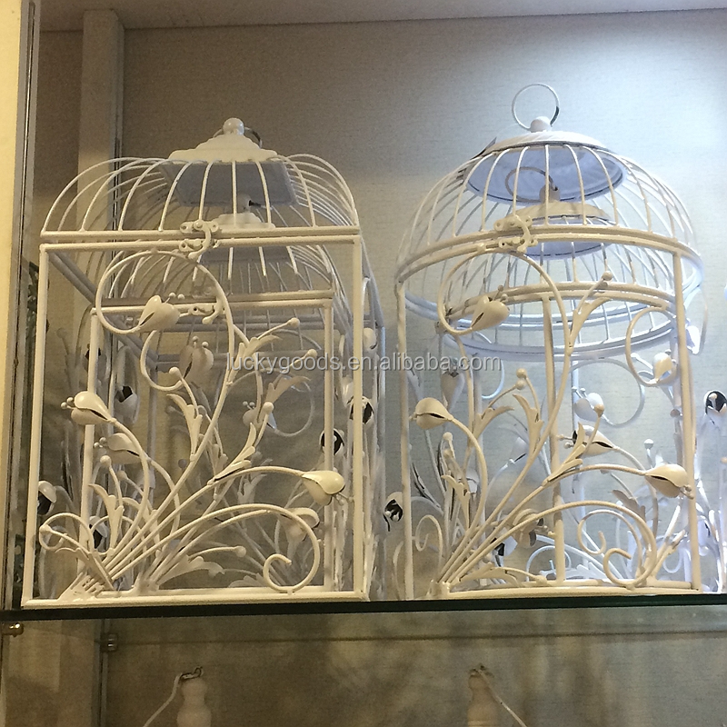 Wholesale Personized Cream White Decorative Bird Cage For Wedding Or Event Decoration View