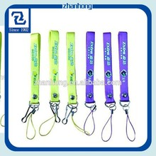 short PVC lanyard with custom single logo for mobile phone