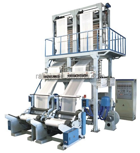 SJ60-700x2 Single screw two heads 650mm pe film extrusion blowing machine