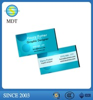 Frosted effect business card using plastic business card printing machine