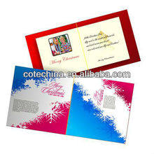 2014 New Design LCD Video Greeting Card, very beautiful video card with 8G memory