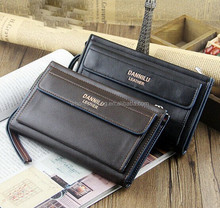 Fashion Designer Multifunctional Men's Clutch Leather Wallet with Envelop Pocket
