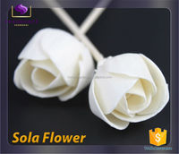 handmade trade assurance dried sola flower with stick