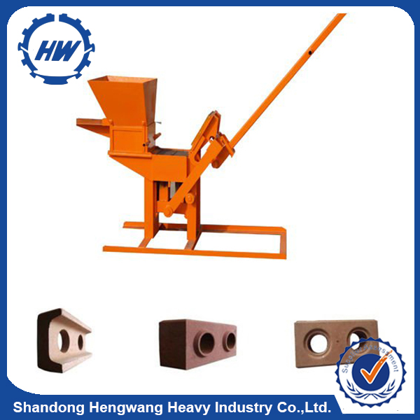2017 China Manual Clay Interlocking Brick Making Machine