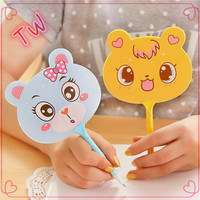2016 New Style Small MOQ free pictures of stationery items cheap funny fan shaped plastic ballpoint pen wholesale